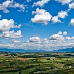 Over looking Rakovica's lush landscape with an awesome sky.